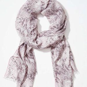 Loft snake print scarf/grey and pink